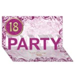 18th birthday party 3D card - PARTY 3D Greeting Card (8x4)