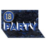 18th blue birthday party 3D card - PARTY 3D Greeting Card (8x4)