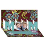 3D Mom, Floral Mother s Day Card - MOM 3D Greeting Card (8x4)
