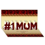 no1 Mum in roses 3D Card - #1 MOM 3D Greeting Cards (8x4)