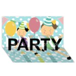 PARTY 1 - PARTY 3D Greeting Card (8x4)