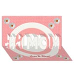 Love U, Mom - #1 MOM 3D Greeting Cards (8x4)
