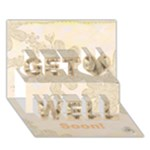 Get Well soon 3D Card - Get Well 3D Greeting Card (7x5)