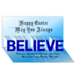 Easter Card 1 - BELIEVE 3D Greeting Card (8x4)