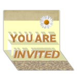 you are invited - YOU ARE INVITED 3D Greeting Card (7x5)