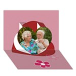 love - Heart 3D Greeting Card (7x5)