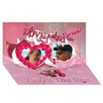 Special Delivery envelope-You re the One for ME twin heart  3d card - Twin Hearts 3D Greeting Card (8x4)