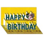 Happy Birthday 3D Card (8x4) sunflowers - Happy Birthday 3D Greeting Card (8x4)