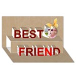 best friend - Best Friends 3D Greeting Card (8x4)