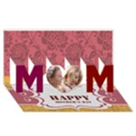 mom - MOM 3D Greeting Card (8x4)