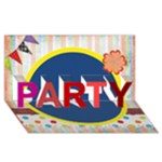party - PARTY 3D Greeting Card (8x4)
