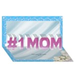 Love you No 1 Mom 3D Card - #1 MOM 3D Greeting Cards (8x4)