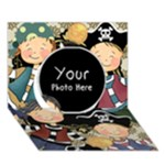 PIRATE - Circle 3D Greeting Card (7x5)