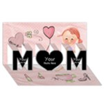 MUM - MOM 3D Greeting Card (8x4)