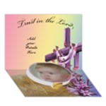 Baptism 3D card - Circle Bottom 3D Greeting Card (7x5)