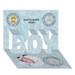 Baby Boy 3D Card - BOY 3D Greeting Card (7x5)