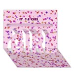 it`s a girl - GIRL 3D Greeting Card (7x5)