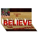 Male Believe in yourself 3D card - BELIEVE 3D Greeting Card (8x4)