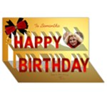 Elegant 3D happy Birthday - Happy Birthday 3D Greeting Card (8x4)