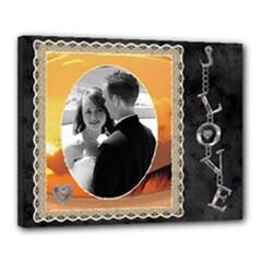 Love 20x16 Stretched Canvas - Canvas 20  x 16  (Stretched)