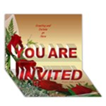 Red Rose General Invitation 3D card - YOU ARE INVITED 3D Greeting Card (7x5)
