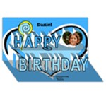Hearts and lollipops Birthday 3D Card - Happy Birthday 3D Greeting Card (8x4)