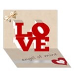 love - LOVE 3D Greeting Card (7x5)