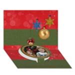 Christmas Holiday 3D circle bottom card - Circle Bottom 3D Greeting Card (7x5)