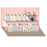 Happy Birthday 3D Card (8x4), balloons - Happy Birthday 3D Greeting Card (8x4)