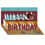 Happy Birthday 3D Card (8x4) You are my sunshine/love - Happy Birthday 3D Greeting Card (8x4)