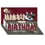 Happy Birthday 3D Card (8x4) Pirate /Boys - Happy Birthday 3D Greeting Card (8x4)
