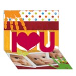 i love you - I Love You 3D Greeting Card (7x5)