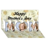 If Moms were Flowers 3d Mothers Day Card - MOM 3D Greeting Card (8x4)