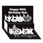Robs 50th birthday - You Rock 3D Greeting Card (7x5)