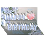 Great Happy birthday 3D card - Happy Birthday 3D Greeting Card (8x4)