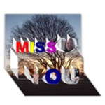 GER - Miss You 3D Greeting Card (7x5)