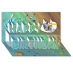 3d birthday card - Happy Birthday 3D Greeting Card (8x4)