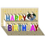 happybday - Happy Birthday 3D Greeting Card (8x4)