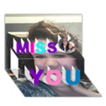 I MISS YOU - Miss You 3D Greeting Card (7x5)