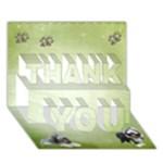 3D-Karte-001 - THANK YOU 3D Greeting Card (7x5)
