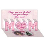 I Love You Mom - MOM 3D Greeting Card (8x4)