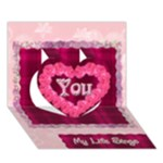 Love Equals YOU Heart 3D Card template - Heart 3D Greeting Card (7x5)