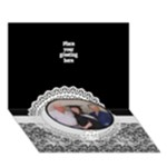 General purpose Pop up 3D card - Circle Bottom 3D Greeting Card (7x5)