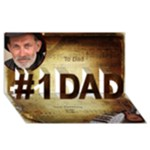 Musical Dad 3d Card - #1 DAD 3D Greeting Card (8x4)