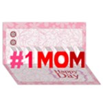 mom - #1 MOM 3D Greeting Cards (8x4)