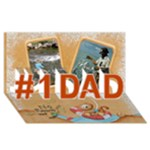 Fishy 3d Card 2 - #1 DAD 3D Greeting Card (8x4)