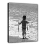 little girl bw - Canvas 14  x 11  (Stretched)