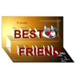 My Best Friends 3d Card - Best Friends 3D Greeting Card (8x4)