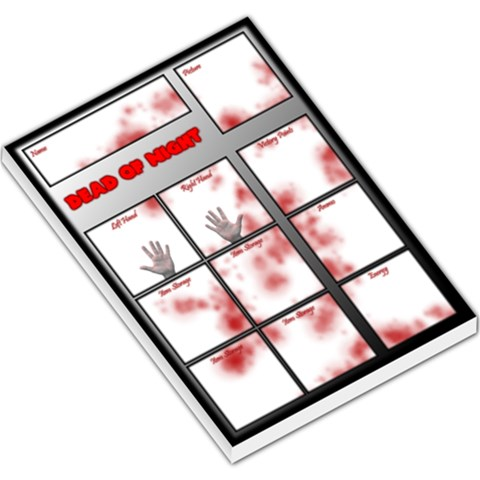 Dead Of Night Characters By Belling   Large Memo Pads   0n03bfyengqn   Www Artscow Com
