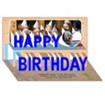 Happy Birthday 3D Card (8x4) a - Happy Birthday 3D Greeting Card (8x4)